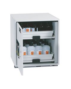Underbench Acid and Alkali Solvent Safety Storage Cabinet, 590mm (W)