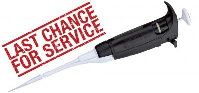 Last chance to service your Gilson PIPETMAN ULTRA® pipettes