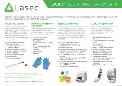 Lasec® Solutions for COVID-19